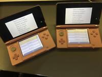 Cheap 2 Nintendo's 3DS PINK Fully Working no faults