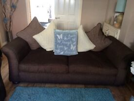 DFS 4 and 3 seater sofas