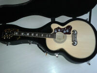 Epiphone EJ200CE Acoustic Guitar with Hard Case