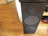 2 X USED MARDAUNT SHORT 5.40 STEREO SPEAKERS AND STANDS