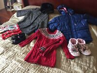 Coat and shoes bundle for 5 year old girl - including NEXT and Clarks
