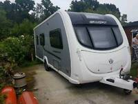 Swift conqueror 530 4 berth Touring caravan cassette toilet end bathroom motor mover full awning