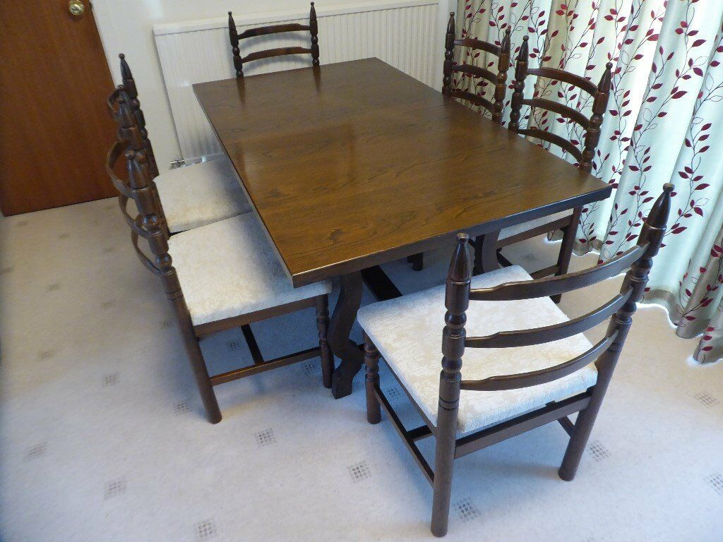 Younger Toledo Extending Dining Table With Six Chairs And Dresser