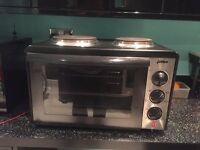 twin hob table top oven