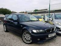 02 REG BMW 330D MSPORTS AUTOMATIC FULL MOT FULL SERVICE HISTORY HPI CLEAR MINT CONDITION IN SIDE OUT