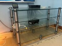 Optimum Tv Stand Glass And Chrome (Large)