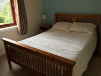Double Bed with wooden frame
