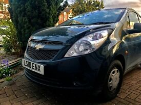 Black Chevrolet Spark 1.0 extremely low miles! £30 road tax!!