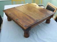 Small solid wood table Coffee Side Occasional table 20cm height - UNIQUE