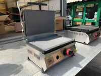 NEW LPG GAS PANINI CONTACT GRILL CATERING COMMERCIAL KITCHEN BBQ OUTDOOR SHOP