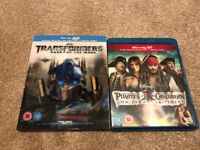 2x 3D Blu-Ray (Transformers - Dark Side of the Moon + Pirates of Caribbean on Stranger Tides)