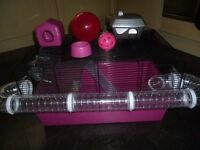 Large Hamster cage and accessories - Suitable for Dwarf Hamsters VGC