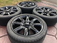 "Genuine 17"" BMW Mini Cooper Crown 8 Spoke Refurbished Alloy wheel & tyres - Gloss Black"