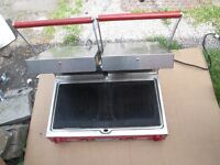 Sirman double ribbed panini Machine/ toaster /contact grill spares or repair tripping electric