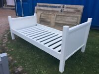 Two Handmade Painted Single Beds in need of re-painting