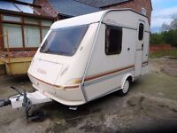 Elddis Wisp 300/2 Lightweight Caravan 2 Berth 1992 {Holiday ready