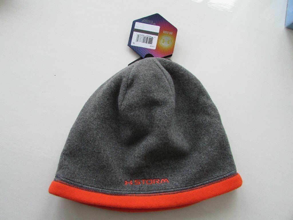 mens under armour beanie in grey/orange. Osfa brand new with tags.