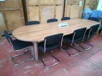 Executive meeting table with chairs