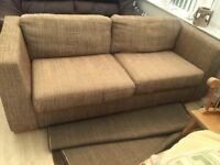 Free sofa and puffie , 4 chairs £40 needs cleaning need gone ASAP collect Darlington