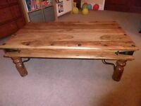 For sale Coffee Table Solid Sheesham Wood Style