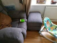 2 seater and 2 single seater and foot rest