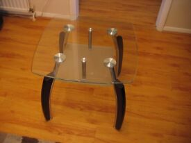 Glass Top Side Table in excellent condition