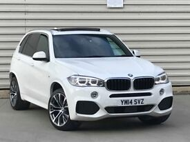 2014 BMW X5 3.0 30d M Sport Auto xDrive (s/s) 5dr PAN ROOF **WHITE**M PERFOMN...