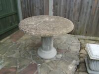 Stone Garden Furniture and Plant Pot's.