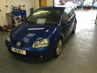 Volkswagen Golf GT TDi. 140bhp. 2004. Blue. Full mot. 5 door
