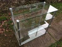 Glass shelf unit