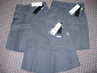 Bundle of 3 Girls School Uniform Plus Fit Pleated Skirt grey/charcoal for 9-10 years, BNWT.