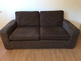 NEXT two seater brown sofa