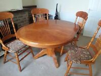 Matching dining room furniture in maple - dining table 4 chairs and sideboard