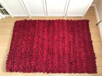 Next 100% wool red rug