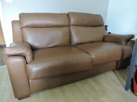 Rochester Three Seater Leather Sofa and Power Chair for sale