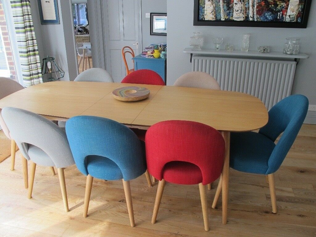 Mac and mac Dining table and 8 chairs