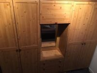 oak wardrobes and drawes