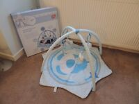 BOXED Chad Valley Deluxe Play Gym Blue Puppy Tummy Time VGC RRP £18
