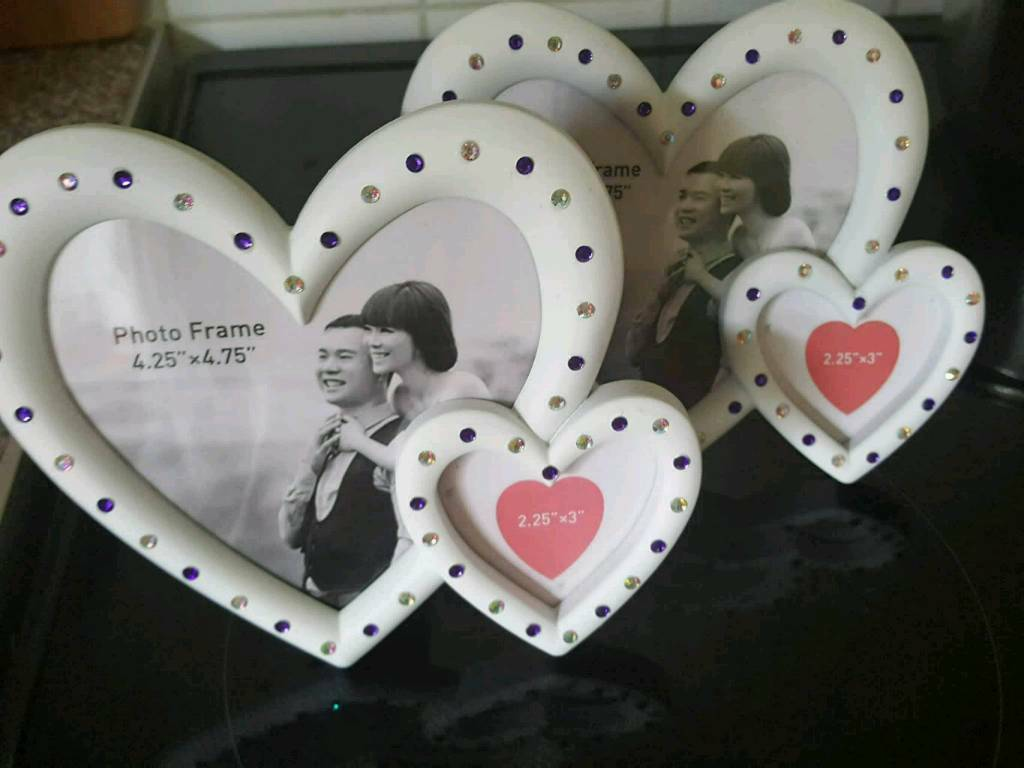 Heart photo frames X2