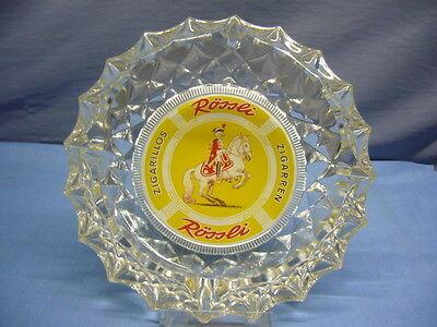 alte Werbung Aschenbecher Glas Rössli Zigarren Zigarillos (21)