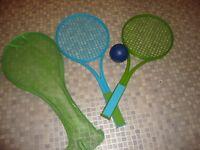 Kids Beach Tennis Rackets, case and ball