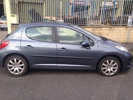 Very cheap £1100 Peugeot 207 1.6hdi PANORAMIC ROOF, £30 tax year, Alloys