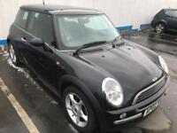 2003 Mini Cooper BLACK. YEARS MOT. LEATHER. FSH