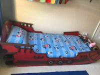 Boys pirate bed frame single
