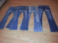 4 Pairs of ladies jeans... Some unworn - Chatham
