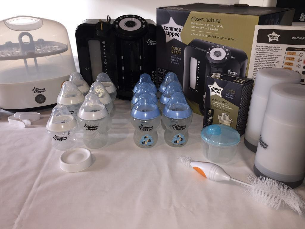 Tommee Tippee Steam Steriliser And Perfect Prep Machine Bundle