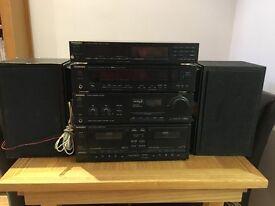 Technics separate decks for sale plus speakers