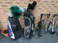Golf Clubs, Bag and Stands for sale (TaylorMade, Dunlop and Donnay)