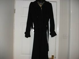 Ladies new black coat size 10 to 12