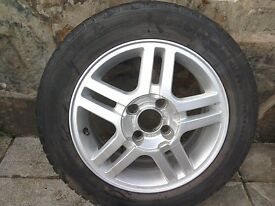 4 used Wheels with Tyres (good condition), plus unused spare wheel with tyre (excellent condition)